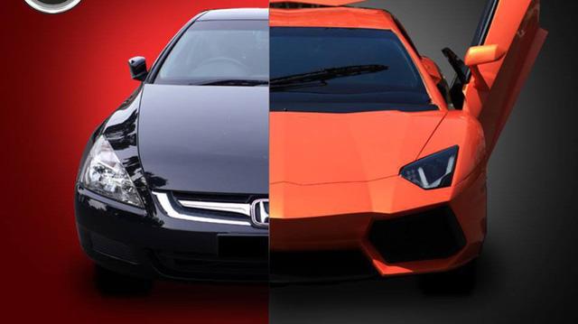 Lamborghini Aventador độ như thật từ Honda Accord